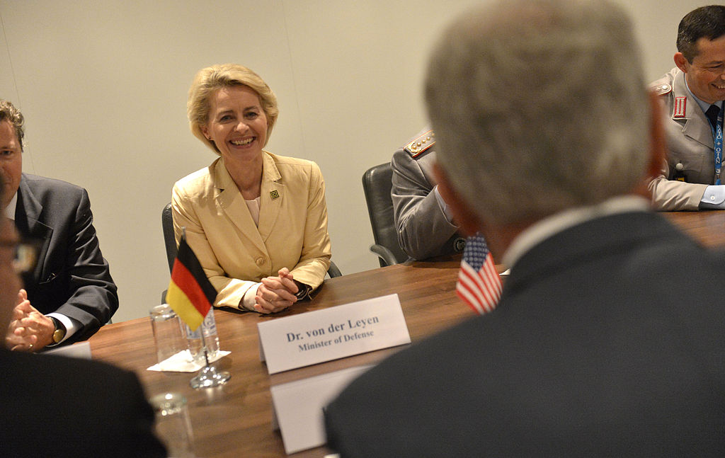 Ursula von der leyen meets with secretary of defense chuck hagel