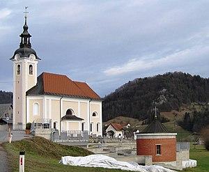 Dvor pri Polhovem Gradcu - Image: Church of St Nicholas in Dvor Slovenia