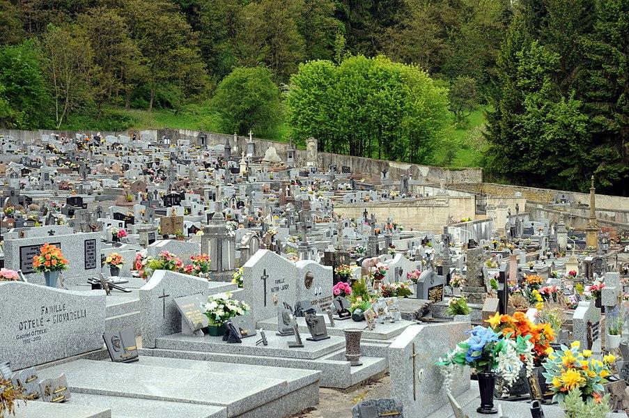 Le cimetière d'Ottange.