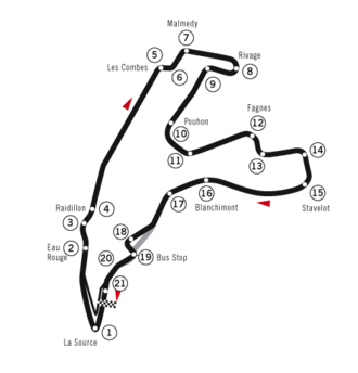 Belgian Grand Prix - Spa-Francorchamps, as used in 1983 and 1985–2003