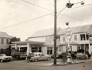 Citgo - Cities Service station in Key West, Florida, in 1965.