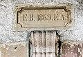Clé de linteau, datée de 1869. Vy-lès-Lure.jpg
