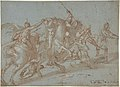 Classical Battle Scene; Verso- Peter and John Heal a Cripple at the Gate of the Temple MET DP801475.jpg