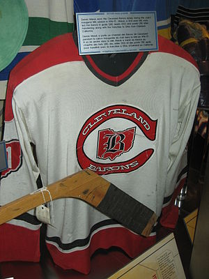 Cleveland Barons (NHL) - 1976–77 Cleveland Barons home jersey  Hockey Hall of Fame
