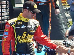 Clint Bowyer at the Daytona 500.JPG