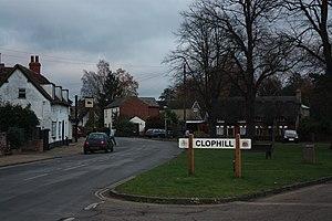 Clophill - Entering Clophill