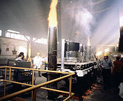 Fire test used to test the heat transfer through firestops and penetrants used in construction listing and approval use and compliance.