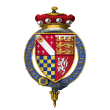 Coat of arms of Sir Charles Howard, 2nd Baron Howard of Effingham, KG.png