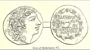 Mithridates VI of Pontus - A coin depicting Mithridates VI