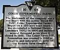 Coker Experimental Farms South Carolina marker side 2.jpg