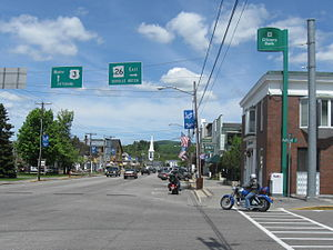 Colebrook, New Hampshire - Colebrook Main Street in 2009