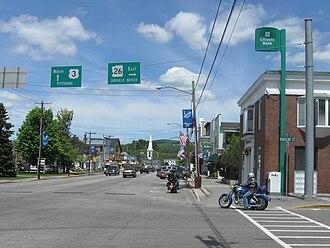 Colebrook, New Hampshire - Colebrook Main Street in 2009