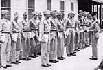 Coleman Municipal Airport - Flight Cadets in Formation before Ground School.jpg