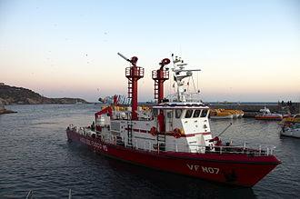 Fireboat - Italian fireboat CLASS M