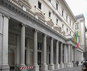 Palazzo Wedekind - The Veii columns at Palazzo Wedekind