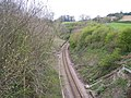 Colwall to Ledbury Railway at the start of the Ledbury tunnel - geograph.org.uk - 4188.jpg