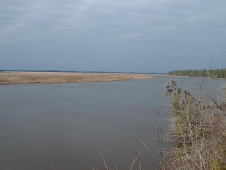Combahee River - The Combahee River as seen from the Harriet Tubman bridge along U.S. Highway 17