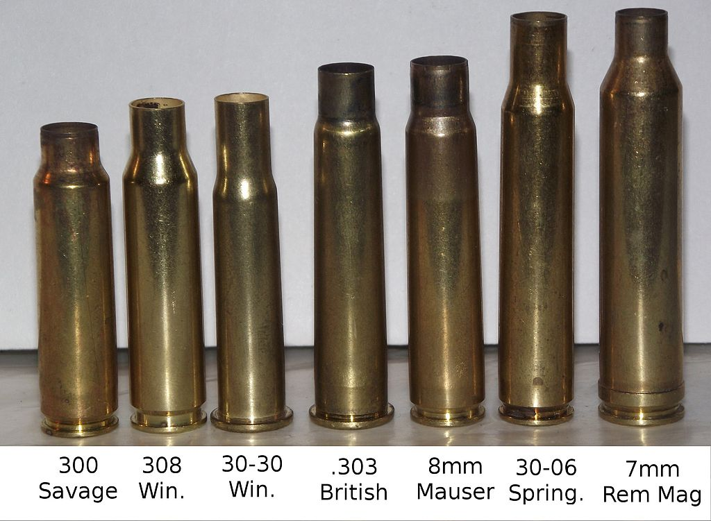 Bullet Size Chart For Reloading: Common Empty Rifle Casings.jpg - Wikimedia Commons,Chart