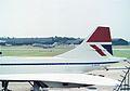 Concorde 102 G-BOAF British Airways, Manchester, July 1982. (5520343009).jpg
