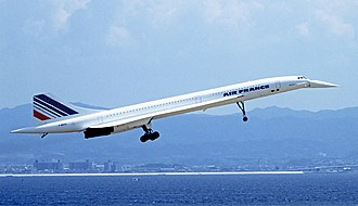 Jet airliner - The Concorde, the first supersonic jet airliner