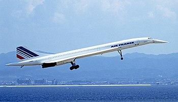 Photographie d'un prototype appartenant à Air France.