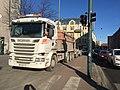 Construction truck on sidewalk (27181933207).jpg