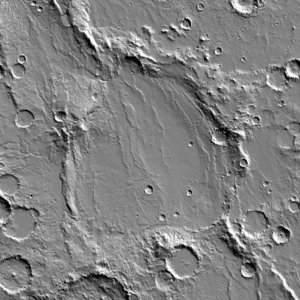 Copernicus (Martian crater) - A daytime infrared image mosaic from the Thermal Emission Imaging System (THEMIS) instrument of the 2001 Mars Odyssey spacecraft