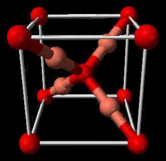 Copper(I) oxide - Image: Copper(I) oxide unit cell A 3D balls