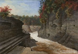 Montmorency River - A painting of the Montmorency River, c. 1858