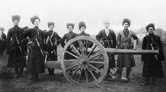 Persian Campaign - Image: Cosacos Artilleros de Terek