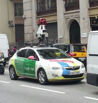 Google Maps - Google Maps car at Via Laietana, Barcelona