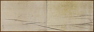 Maruyama Ōkyo - Cracked Ice shows influence from Western art in its use of perspective.
