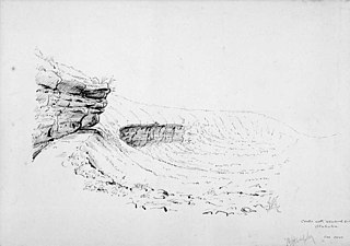 Crater with recurved side, Otahuhu. 1868