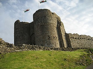 castle in Criccieth, north Wales