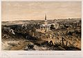 Crimean War; quarantine cemetery and church with a French ba Wellcome V0015446.jpg