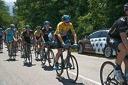 Froome in maglia gialla di leader al Critérium du Dauphiné 2014