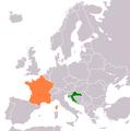 Croatia France Locator.png