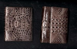 Crocodile wallets from Bangkok Crocodile Farm