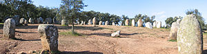 Almendres Cromlech - The distribution of the Cromlech of the Almendres