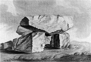 Kilclooney More - Image: Cromlech on the lands of Kilcluny, Co. Donegal by Rev. Joseph Turner 1799
