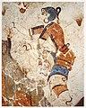 Cueilleuse de safran, fresque, Akrotiri, Grèce.jpg