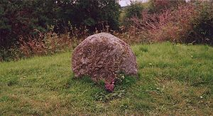 Photo of Clan Fraser's gravestone located on t...