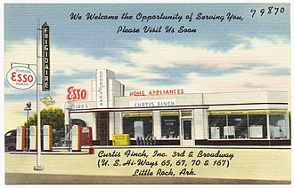 Frigidaire - Frigidaire dealer and Esso gas station, Arkansas, ca. 1930–1945