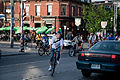 Cyclists on Queen Toronto 2010.jpg
