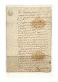 Décharge de pièces pour Anne-Christine Page veuve Collet de Confranchette contre Joseph Fructus du 10 mai 1807.pdf