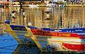 Détails de 2 barques à joute sétoise dans le port de Sète.jpg