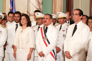Danilo Medina - President Medina in the swearing in of his government cabinet on 16 August 2012.