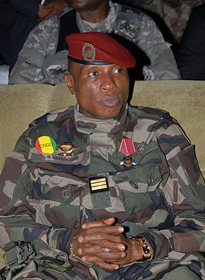 2009 Guinea protest - Capt. Moussa Dadis Camara, leader of the junta.