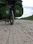 Dahon Bullhead on heavy road in Latvia.jpg