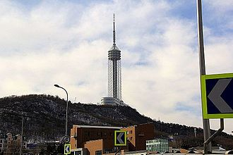 Dalian Sightseeing Tower, formerly Dalian Radio & TV Tower Dalian Sightseeing Tower (2).JPG